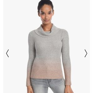 White House Black Market Ombre Cowlneck Sweater